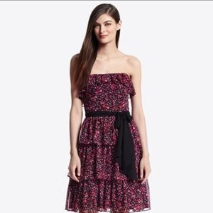 White House Black Market Ditzy Print Tiered Dress